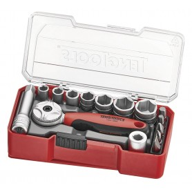 """Doppenset 1/4"""" TJ Box 15dlg Teng Tools TJ1415"""