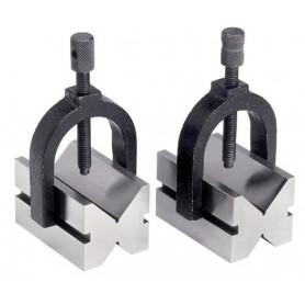 Paar V-blokken ø 42 mm, verstelbare opspanbeugels Vertex VBL4201