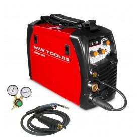 Inverter lasapparaat MIG-MAG 200A. MW-Tools MIG200E