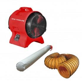 Mobiele ventilator MV200PP met accessoires MW-Tools MV200PPSET