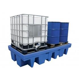 Opvangbak voor 2 IBC van 1000 liter met rooster MW-Tools OVBIBC2R