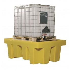 Opvangbak voor 1 ibc van 1000  l (met rooster) Ecospill BRC1R