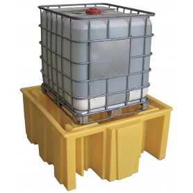 Opvangbak voor 1 ibc 1000 l (zonder rooster) Ecospill BRC1