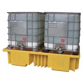 Opvangbak voor 2 IBC's van 1000 liter. Ecospill BRC2