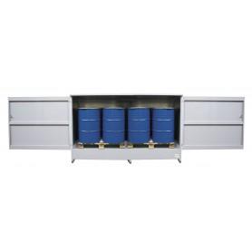 Opslagkast voor 4 IBC vaten MW-Tools OQS24