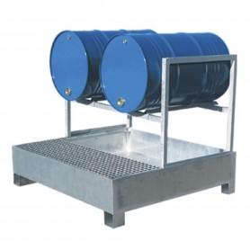 Opvangbak voor  2 liggende vaten MW-Tools OPBHS2