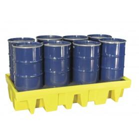 Opvangbak voor 2 IBC'S van 1000 l of 8 vaten van 200 l. Ecospill BR82