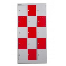 Kast met  15 lockers: 3 Kolom x 5 rij MW-Tools DEKLK35