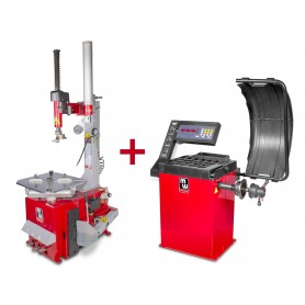 Set bandenwisselaar + balanceermachine  MW-Tools BT200M +BB200