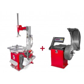 Set bandenwisselaar en balanceermachine MW-Tools BT100M + BB200