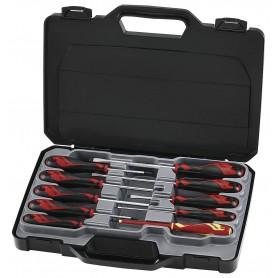Schroevendraaierset plat, PZ, PH 10dlg Teng Tools MD910N