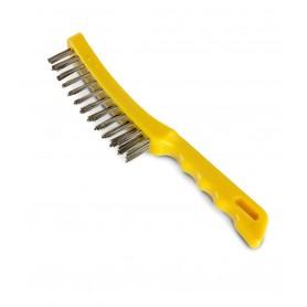 Handborstel met 4-rijige roestvrijstaal draad MW-Tools HA452334