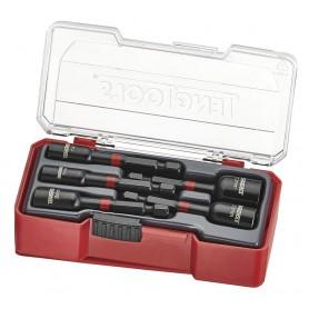 "Set slagmoeraanzetters 1/4"" TJ Box 5dlg Teng Tools TJNS05"