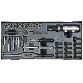 33-delige tap, snijplaat en slagschroevendraaierset MW-Tools MWTD33P