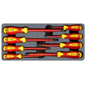 Geïsoleerde schroevendraaierset plat en PH MW-Tools MWSV8