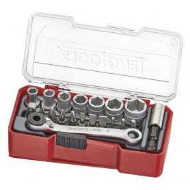 "Doppen- en bitsset 1/4"" TJ Box 20dlg Teng Tools TJ1420"