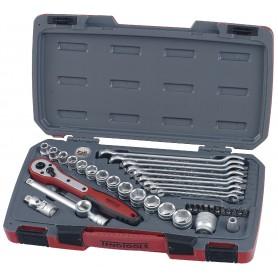 "Doppen-, bits- en sleutelset  3/8"" 19-22mm 40 dlg Teng Tools T3840"