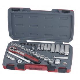 """Teng Tools T3839 Doppen- en bitsset 3/8"""" 8-21mm 39 dlg"""
