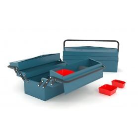 Gereedschapskoffer 5 compartimenten lengte 430mm Heco HE1085BL