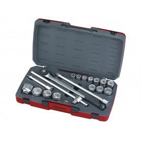 "Doppenset 3/4"" 19-50mm 18 dlg Teng Tools T3418-6"
