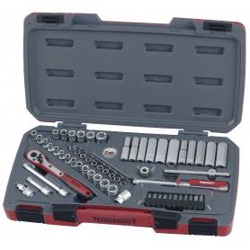 """Teng Tools T1460 Doppen- en bitsset 1/4"""" 60 dlg"""