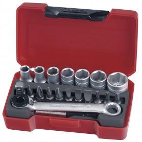 """Teng Tools T1420 Doppen- en bitsset 1/4"""" 5.5-13mm 20 dlg"""