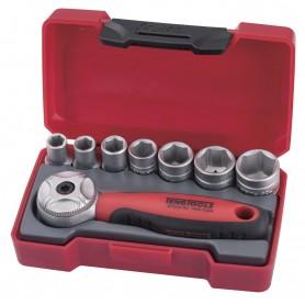"Teng Tools T1408 8-delige mini set doppen 1/4"""