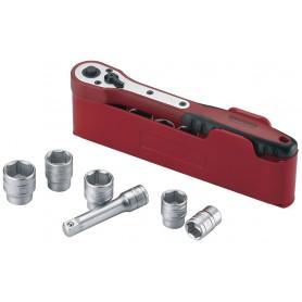 """Teng Tools M3812N1 Doppenset 3/8"""" met ratel 12 dlg"""