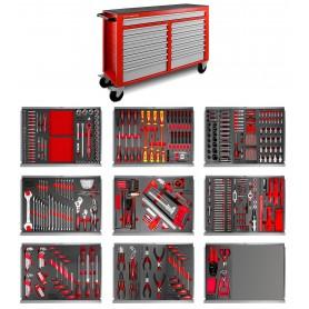 Gereedschapswagen 512-dlg XXL 15 lades MW-Tools MWE512G4