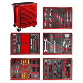 Gereedschapswagen 211-dlg rood MW-Tools MWE211R