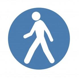 Sticker verplichte voetgangersdoorgang MW-Tools SOL500ROBLI