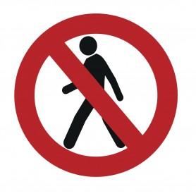 Sticker verboden voor voetgangers MW-Tools SOL500RPIET