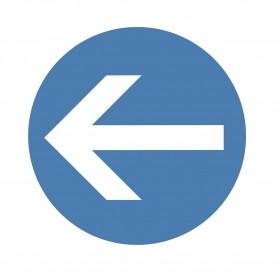 """Sticker """"Verplichte richting"""" MW-Tools SOL500RSENS"""