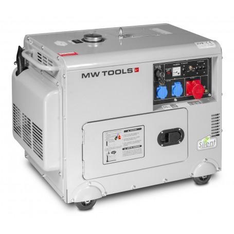 Diesel generator 6,0kW 1x230V + 3x400V MW-Tools DG65E