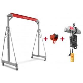 Pack portaalkraan + 500kg kettingtakel + trolley MW-Tools PTLK1-SET500