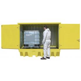 PE opvangcontainer gesloten 2 IBC vaten MW-Tools OQP24