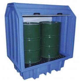 PE opvangkast met rolluik voor vaten MW-Tools OQP2