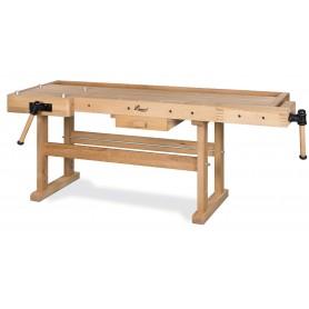Zware houten werkbank - 2100x700 mm Holzkraft HB2010