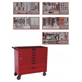 Gereedschapswagen 491 delig - PS trays Teng Tools TCMM498N2