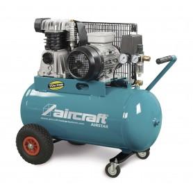 Riemaangedreven olie Compressor 2 cil 10 bar - 200 l Aircraft AIRSTAR 401/200