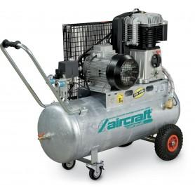 Riemaangedreven olie compressor verzinkte ketel 10 bar - 100 l Aircraft AIRPROFI 703/100