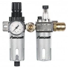 "Filter/drukregelaar + olievernevelaar 1/4"" - 1/2"" Aircraft WE AC"