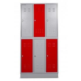 Outlet: 2ème main : avec défauts comme rayures ou chocs visibles.: Kast met  6 lockers: 3Kolom x 2Rij