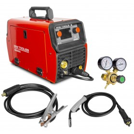 MIG lasinverter Synergie LCD 200A + accessoires MW-Tools MIG205S