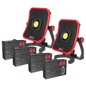 Pack v2 werklampen 30W + 4 losse accu's MW-Tools WFL30LI-PACK2