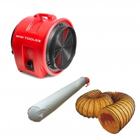 Ventilator MV400PP met accessoires MW-Tools MV400PPSET