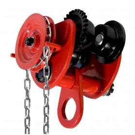 Loopkat 2 ton met kettingaandrijving voor takels MW-Tools HNRKG2T