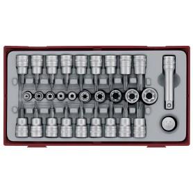 Torx set Tc-tray 1/4-3/8 Tx-,TPX,Tx-30dlg Teng Tools TTTX30