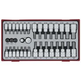 Dop- en bitsset 1/4 TC-tray 35dlg Teng Tools TTBS35
