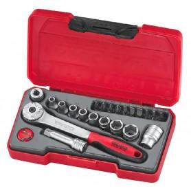 """Teng Tools T1422 Doppen- en bitsset 1/4"""" 4.5-13mm 22 dlg"""